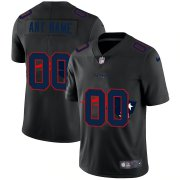 Wholesale Cheap New England Patriots Custom Men's Nike Team Logo Dual Overlap Limited NFL Jersey Black