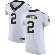 Wholesale Cheap Nike Saints #2 Jameis Winston White Men's Stitched NFL New Elite Jersey