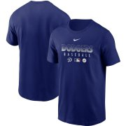 Wholesale Cheap Men's Los Angeles Dodgers Nike Royal Authentic Collection Team Performance T-Shirt