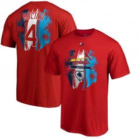 Wholesale Cheap St. Louis Cardinals #4 Yadier Molina Majestic 2019 Spring Training Big & Tall Name & Number T-Shirt Red