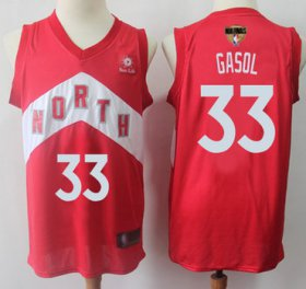 Wholesale Cheap Raptors #33 Marc Gasol Red 2019 Finals Bound Basketball Swingman Earned Edition Jersey