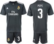 Wholesale Cheap Real Madrid #3 Pepe Away Soccer Club Jersey