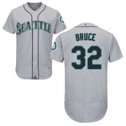 Wholesale Cheap Mariners #32 Jay Bruce Grey Flexbase Authentic Collection Stitched MLB Jersey