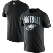 Wholesale Cheap Philadelphia Eagles Nike Sideline All Football Performance T-Shirt Black