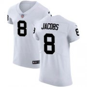 Wholesale Cheap Nike Raiders #8 Josh Jacobs White Men's Stitched NFL Vapor Untouchable Elite Jersey