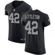 Wholesale Cheap Nike Raiders #42 Cory Littleton Black Team Color Men's Stitched NFL Vapor Untouchable Elite Jersey