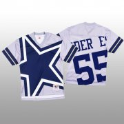 Wholesale Cheap NFL Dallas Cowboys #55 Leighton Vander Esch White Men's Mitchell & Nell Big Face Fashion Limited NFL Jersey