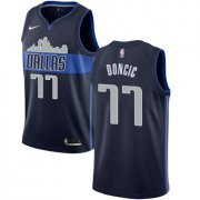 Wholesale Cheap Nike Dallas Mavericks #77 Luka Doncic Navy NBA Swingman Statement Edition Jersey