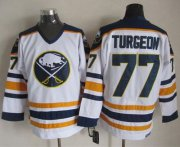 Wholesale Sabres #77 Pierre Turgeon White CCM Throwback Stitched NHL Jersey