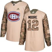 Wholesale Cheap Adidas Canadiens #12 Dickie Moore Camo Authentic 2017 Veterans Day Stitched NHL Jersey