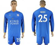 Wholesale Cheap Leicester City #25 Ndidi Home Long Sleeves Soccer Club Jersey