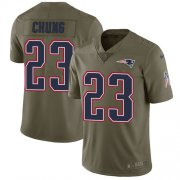 Wholesale Cheap Nike Patriots #23 Patrick Chung Olive Youth Stitched NFL Limited 2017 Salute to Service Jersey