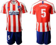Wholesale Cheap Atletico Madrid #5 Thomas Home Soccer Club Jersey