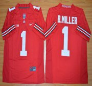Wholesale Cheap Ohio State Buckeyes #1 Baxton Miller Red 2015 College Football Nike Limited Jersey