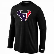Wholesale Cheap Nike Houston Texans Logo Long Sleeve T-Shirt Black