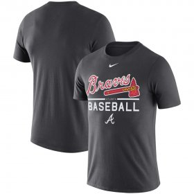 Wholesale Cheap Atlanta Braves Nike Practice Performance T-Shirt Anthracite