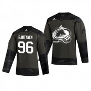 Wholesale Cheap Colorado Avalanche #96 Mikko Rantanen Adidas 2019 Veterans Day Men's Authentic Practice NHL Jersey Camo
