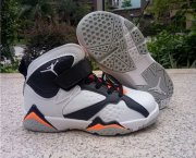 Wholesale Cheap Kid's Air Jordan 7 Shoes White/Black-Orange