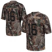 Wholesale Cheap Nike 49ers #16 Joe Montana Camo Men's Stitched NFL Realtree Elite Jersey