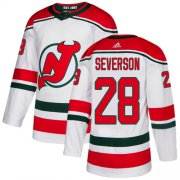 Wholesale Cheap Adidas Devils #28 Damon Severson White Alternate Authentic Stitched NHL Jersey
