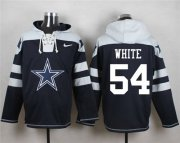 Wholesale Cheap Nike Cowboys #54 Randy White Navy Blue Player Pullover NFL Hoodie