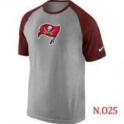 Wholesale Cheap Nike Tampa Bay Buccaneers Ash Tri Big Play Raglan T-Shirt NFL Grey/Red