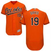 Wholesale Cheap Orioles #19 Chris Davis Orange Flexbase Authentic Collection Stitched MLB Jersey