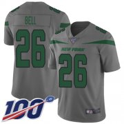 Wholesale Cheap Nike Jets #26 Le'Veon Bell Gray Youth Stitched NFL Limited Inverted Legend 100th Season Jersey