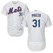 Wholesale Cheap Mets #31 Mike Piazza White(Blue Strip) Flexbase Authentic Collection Stitched MLB Jersey