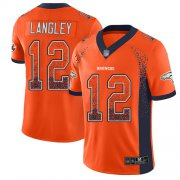 Wholesale Cheap Nike Broncos #12 Brendan Langley Orange Team Color Men's Stitched NFL Limited Rush Drift Fashion Jersey