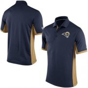 Wholesale Cheap Men's Nike NFL Los Angeles Rams Navy Team Issue Performance Polo