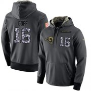 Wholesale Cheap NFL Men's Nike Los Angeles Rams #16 Jared Goff Stitched Black Anthracite Salute to Service Player Performance Hoodie