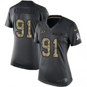 Wholesale Cheap Nike Redskins #91 Ryan Kerrigan Black Women's Stitched NFL Limited 2016 Salute to Service Jersey