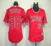 Wholesale Angels of Anaheim #36 Weaver Jered Red Cool Base Stitched Baseball Jersey