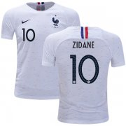 Wholesale Cheap France #10 Zidane Away Kid Soccer Country Jersey