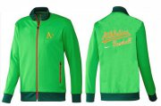 Wholesale Cheap MLB Oakland Athletics Zip Jacket Green