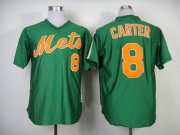 Wholesale Cheap Mitchell And Ness 1985 Mets #8 Gary Carter Green Throwback Stitched MLB Jersey