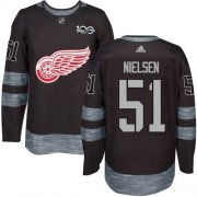 Wholesale Cheap Adidas Red Wings #51 Frans Nielsen Black 1917-2017 100th Anniversary Stitched NHL Jersey