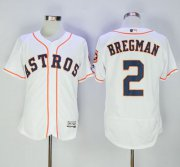 Wholesale Cheap Astros #2 Alex Bregman White Flexbase Authentic Collection Stitched MLB Jersey