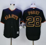 Wholesale Cheap Giants #28 Buster Posey Black New Cool Base Fashion Stitched MLB Jersey
