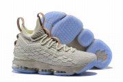 Wholesale Cheap Nike Lebron James 15 Air Cushion Shoes Champagne
