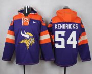 Wholesale Cheap Nike Vikings #54 Eric Kendricks Purple Player Pullover NFL Hoodie