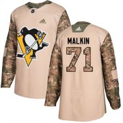 Wholesale Cheap Adidas Penguins #71 Evgeni Malkin Camo Authentic 2017 Veterans Day Stitched Youth NHL Jersey