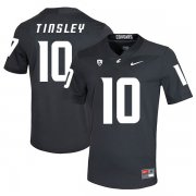 Wholesale Cheap Washington State Cougars 10 Trey Tinsley Black College Football Jersey