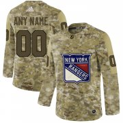 Wholesale Cheap Men's Adidas Rangers Personalized Camo Authentic NHL Jersey