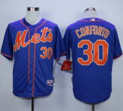 Wholesale Cheap Mets #30 Michael Conforto Blue Alternate Home Cool Base Stitched MLB Jersey
