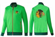 Wholesale Cheap NHL Chicago Blackhawks Zip Jackets Green-1