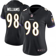 Wholesale Cheap Nike Ravens #98 Brandon Williams Black Alternate Women's Stitched NFL Limited Vapor Untouchable Limited Jersey