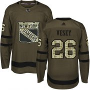Wholesale Cheap Adidas Rangers #26 Jimmy Vesey Green Salute to Service Stitched Youth NHL Jersey