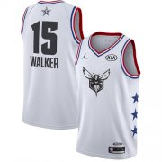 Wholesale Cheap Hornets #15 Kemba Walker White Basketball Jordan Swingman 2019 All-Star Game Jersey